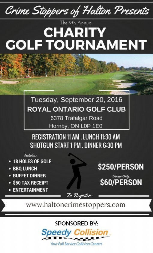 Halton Crime Stoppers Charity Golf Poster