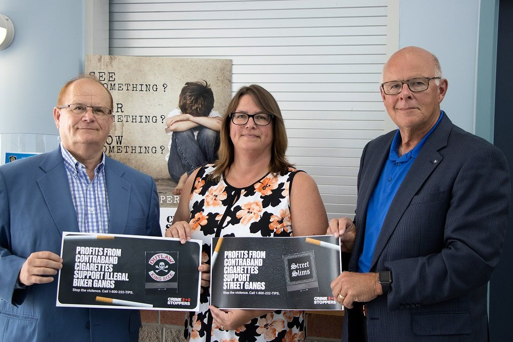 Left to Right: Dave Bryans (CEO, Ontario Convenience Store Association), Jodi Richmond (Police Coordinator, Halton Crime Stoppers), and Rod Piukkala (Director, Halton Crime Stoppers)
