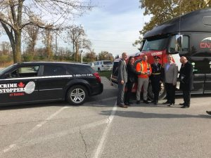 Detective Sergeant Dave Costantini , 1 District Criminal Investigations Bureau, Detective Constable  Jodi Richmond, Crime Stoppers Coordinator, Mandeep Ball CNTL Driver,H.R.P.S. Deputy Chief Carol CROWE, Doug Maybee, Economical Insurance, Steve KEE, Insurance Bureau of Canada
