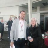 Crime Stoppers of Halton Volunteers Ryan Pimental and Penny Ennis.
